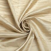 "Accordion Crushed Taffeta - 10 Yard Bolt x 54"" Wide - Champagne"