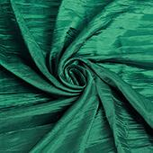 "Accordion Crushed Taffeta - 10 Yard Bolt x 54"" Wide - Emerald Green"