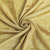 "Accordion Crushed Taffeta - 10 Yard Bolt x 54"" Wide - Gold"