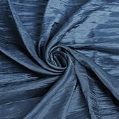 "Accordion Crushed Taffeta - 10 Yard Bolt x 54"" Wide - Navy Blue"