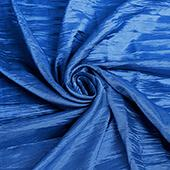"Accordion Crushed Taffeta - 10 Yard Bolt x 54"" Wide - Royal Blue"