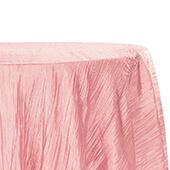 "Accordion Crushed Taffeta - 120"" Round Tablecloth - Dusty Rose/Mauve"