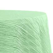 "Accordion Crushed Taffeta - 120"" Round Tablecloth - Mint Green"