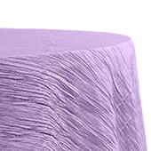 "Accordion Crushed Taffeta - 132"" Round Tablecloth - Victorian Lilac/Wisteria"