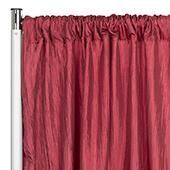 "Accordion Crushed Taffeta - 8ft Long x 54"" Wide Drape/Backdrop Panel - Burgundy"