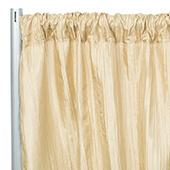 "Accordion Crushed Taffeta - 8ft Long x 54"" Wide Drape/Backdrop Panel - Champagne"