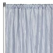 "Accordion Crushed Taffeta - 8ft Long x 54"" Wide Drape/Backdrop Panel - Dusty Blue"