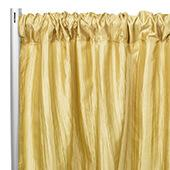 "Accordion Crushed Taffeta - 8ft Long x 54"" Wide Drape/Backdrop Panel - Gold"