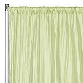 "Accordion Crushed Taffeta - 8ft Long x 54"" Wide Drape/Backdrop Panel - Sage Green"