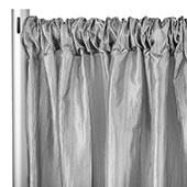 "Accordion Crushed Taffeta - 8ft Long x 54"" Wide Drape/Backdrop Panel - Silver"