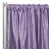 "Accordion Crushed Taffeta - 8ft Long x 54"" Wide Drape/Backdrop Panel - Victorian Lilac/Wisteria"