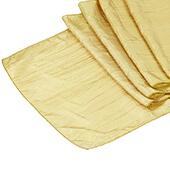 Accordion Crushed Taffeta Table Runner - Gold