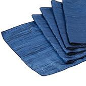 Accordion Crushed Taffeta Table Runner - Navy Blue