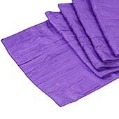 Accordion Crushed Taffeta Table Runner - Purple
