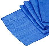Accordion Crushed Taffeta Table Runner - Royal Blue