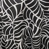 """White/Black Amazonia Curtain Panel w/ 4"""" Rod Pocket - 116"""" Wide - Many Size Options"""
