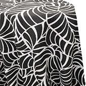 Amazonia Reversible Tablecloth by Eastern Mills - Black/White - Many Size Options