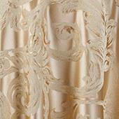 "Gold Metallic Aurora Curtain Panel w/ 4"" Rod Pocket - 116"" Wide - Many Size Options"
