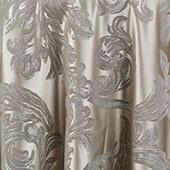 "Silver Metallic Aurora Curtain Panel w/ 4"" Rod Pocket - 116"" Wide - Many Size Options"