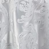 "White Metallic Aurora Curtain Panel w/ 4"" Rod Pocket - 116"" Wide - Many Size Options"
