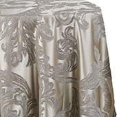 Metallic Aurora Tablecloth by Eastern Mills - Silver - Many Size Options