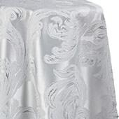 Metallic Aurora Tablecloth by Eastern Mills - White - Many Size Options