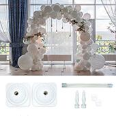 DECOSTAR™ 9ft Balloon Arch Stand Kit - White