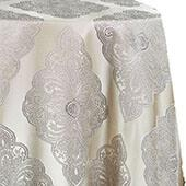 Royal Belle Tablecloth by Eastern Mills - Silver - Many Size Options