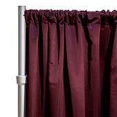 "*FR* LUXE Satin Drape Panel by Eastern Mills (59"" Wide) w/ 4"" Sewn Rod Pocket - Aubergine"