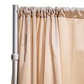 """*FR* LUXE Satin Drape Panel by Eastern Mills (59"""" Wide) w/ 4"""" Sewn Rod Pocket - Bubbly Champagne"""