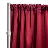 "*FR* LUXE Satin Drape Panel by Eastern Mills (59"" Wide) w/ 4"" Sewn Rod Pocket - Burgundy"