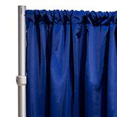 "*FR* LUXE Satin Drape Panel by Eastern Mills (59"" Wide) w/ 4"" Sewn Rod Pocket - Deep Royal"