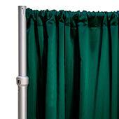 "*FR* LUXE Satin Drape Panel by Eastern Mills (59"" Wide) w/ 4"" Sewn Rod Pocket - Hunter"
