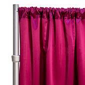 "*FR* LUXE Satin Drape Panel by Eastern Mills (59"" Wide) w/ 4"" Sewn Rod Pocket - Magenta"