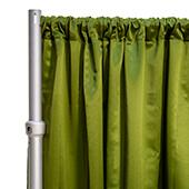 """*FR* LUXE Satin Drape Panel by Eastern Mills (59"""" Wide) w/ 4"""" Sewn Rod Pocket - Olive"""