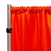 "*FR* LUXE Satin Drape Panel by Eastern Mills (59"" Wide) w/ 4"" Sewn Rod Pocket - Spice Orange"