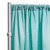 """*FR* LUXE Satin Drape Panel by Eastern Mills (59"""" Wide) w/ 4"""" Sewn Rod Pocket - Premier Blue"""