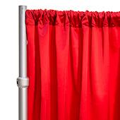 """*FR* LUXE Satin Drape Panel by Eastern Mills (59"""" Wide) w/ 4"""" Sewn Rod Pocket - Roja Red"""