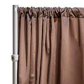 """*FR* LUXE Satin Drape Panel by Eastern Mills (59"""" Wide) w/ 4"""" Sewn Rod Pocket - Saddle Brown"""