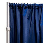 """*FR* LUXE Satin Drape Panel by Eastern Mills (59"""" Wide) w/ 4"""" Sewn Rod Pocket - Storm Navy"""