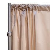 "*FR* LUXE Satin Drape Panel by Eastern Mills (59"" Wide) w/ 4"" Sewn Rod Pocket - Sultry Beige"