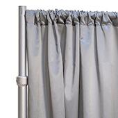 """*FR* LUXE Satin Drape Panel by Eastern Mills (59"""" Wide) w/ 4"""" Sewn Rod Pocket - Ultra Platinum"""