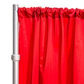 """*FR* LUXE Satin Drape Panel by Eastern Mills (59"""" Wide) w/ 4"""" Sewn Rod Pocket - Valentine Red"""