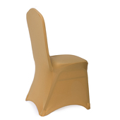200 GSM Grade A Quality Spandex (Lycra) Banquet & Wedding Chair Cover By Eastern Mills in Gold Color