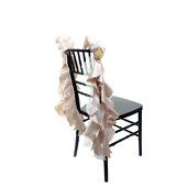 DecoStar™ Chair Tutu -10 Pack - Champagne