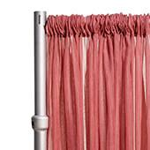 """Crushed Sheer Voile Curtain Panel  w/ 4"""" Pockets by Eastern Mills - 10ft Wide - Dusty Rose"""