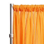 """Crushed Sheer Voile Curtain Panel  w/ 4"""" Pockets by Eastern Mills - 10ft Wide - Orange"""