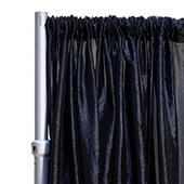 "*FR* Crushed Taffeta Drape Panel by Eastern Mills 9 1/2 FT Wide w/ 4"" Sewn Rod Pocket - Black"
