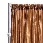 "*FR* Crushed Taffeta Drape Panel by Eastern Mills 9 1/2 FT Wide w/ 4"" Sewn Rod Pocket - Bronze"