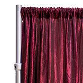 "*FR* Crushed Taffeta Drape Panel by Eastern Mills 9 1/2 FT Wide w/ 4"" Sewn Rod Pocket - Burgundy"